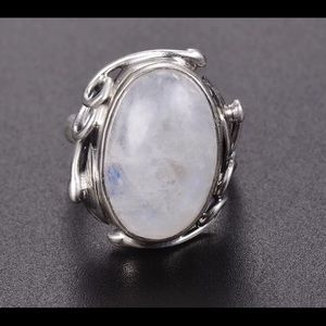 Jewelry - New moonstone sterling silver ring size 8
